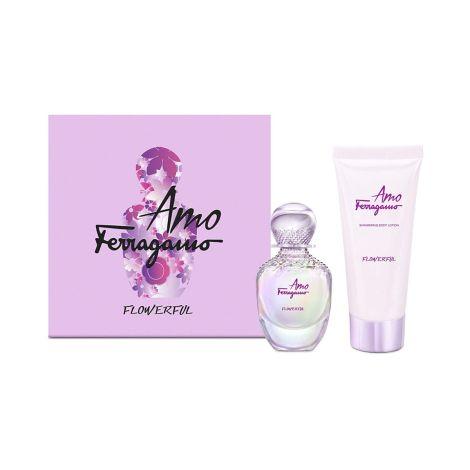 Salvatore Ferragamo Amo Flowerful Set 100 ml + Body Lotion