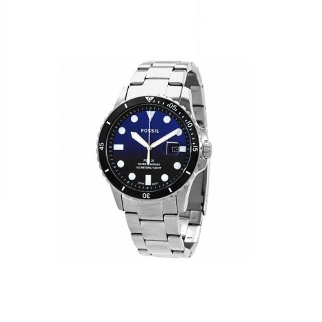 Fossil Fb-01 Three-Hand Date Stainless Steel Watch 42mm