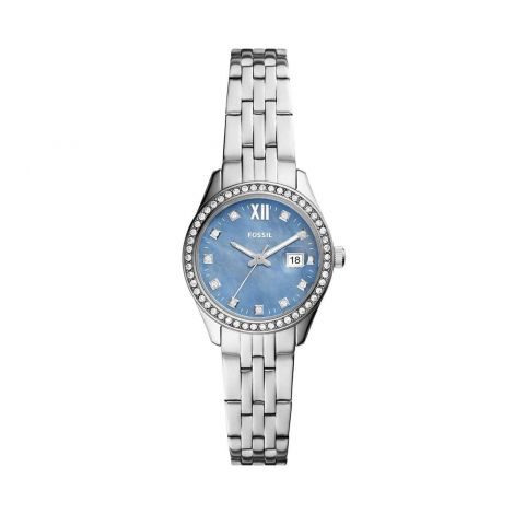 Fossil Women's Scarlette micro stainless steel 3 hand movement, bracelet watch 2
