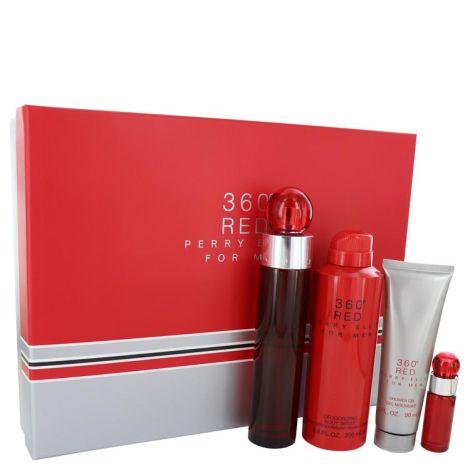 PERRY ELLIS 360 RED M 4PC EAU DE TOILETTE