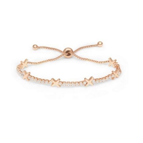 Buckley London Hugs & Kisses Bracelet - X - Rose