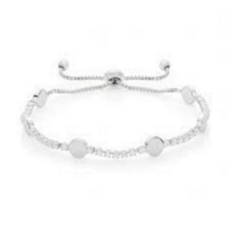 Buckley London Hugs & Kisses Bracelet- O -Silver