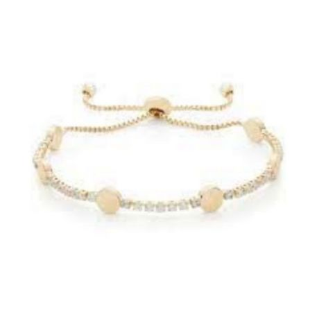Buckley London Hugs & Kisses Bracelet- O -Gold