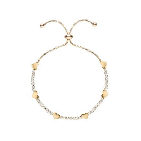 Buckley London Hugs & Kisses ♥ Bracelet Gold 25mm