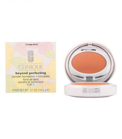 Clinique Polvo Compacto Beyond Perfecting #15 Beige