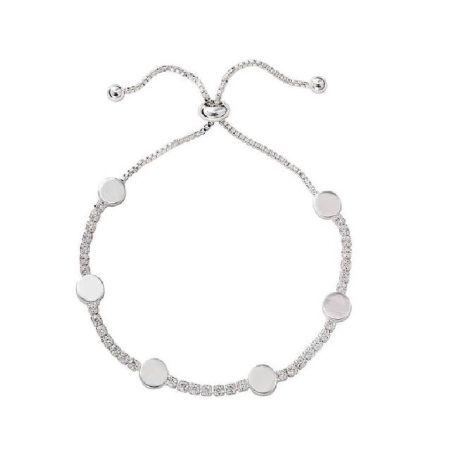 Buckley London Hugs & Kisses Bracelet- O -Silver