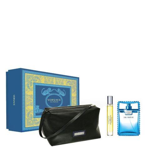 Versace Eau Fraiche Eau de Toilette 100ml +10ml + Black Trousse Gift Set